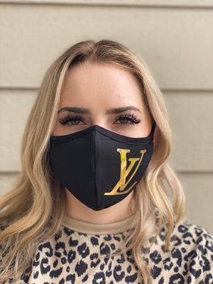 Mask - LV (gold foil)
