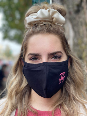 Mask - Chanel Drip in Small Logo (pink)