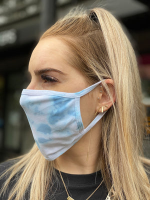Washable & Reusable Mask - Blue Tie Dye