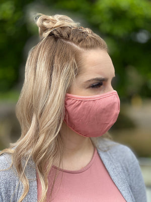 Washable & Reusable Mask - Dusty Pink