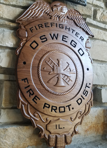 Firefighter Badge Plaque
