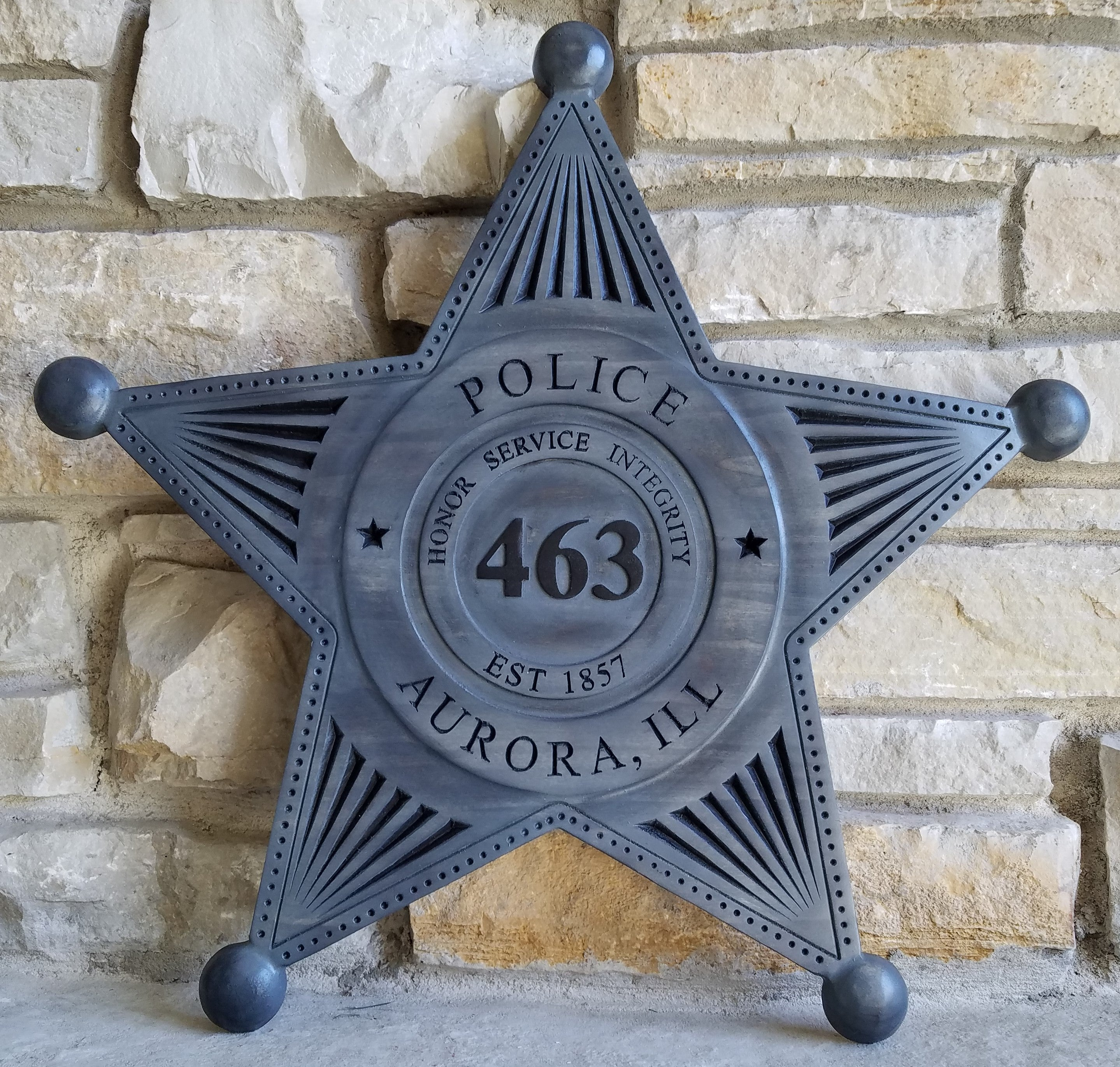 The Tried & True Police Badge Plaque