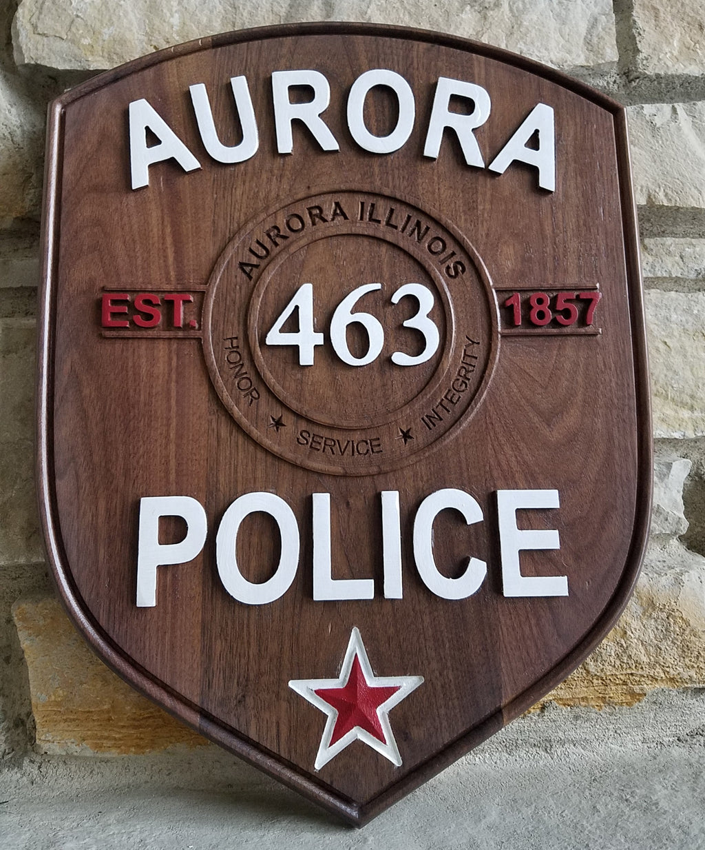 Aurora Police Patch Plaque
