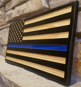 Thin Red Line Flag & Thin Blue Line Flag