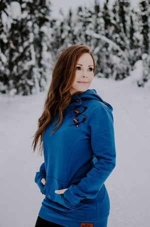 Fireweed Side Zip Toggle Hoodie (Glacier Blue)