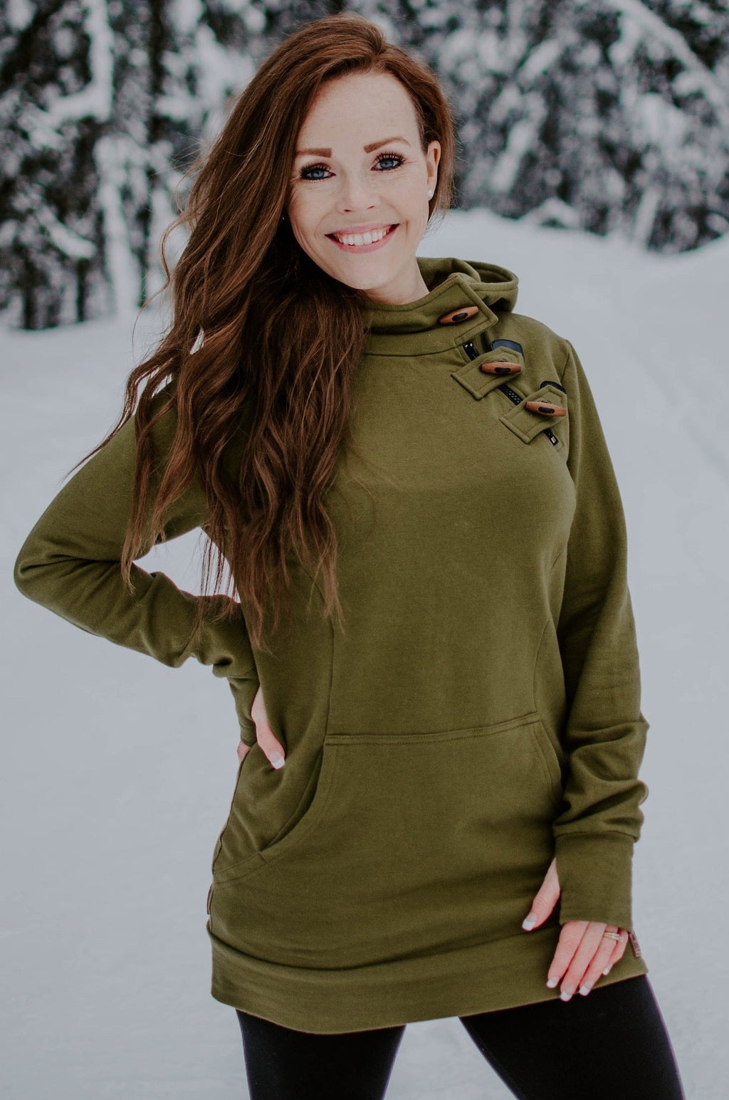 (COMING SOON) Fireweed Side Zip Toggle Hoodie (Tundra Green)