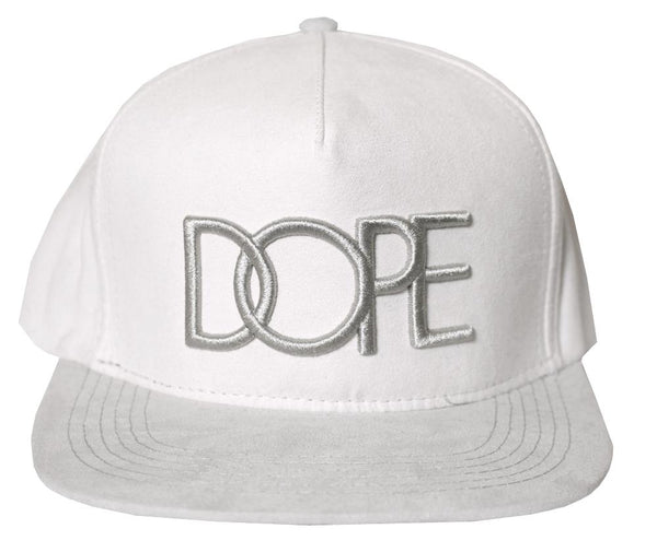 reputable site 6ff6f 6c9fb DOPE Suede Emblem Snapback Hat Off White