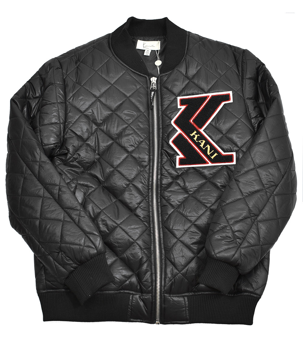 a930040bfba66f Karl Kani Quilted MA-1 Bomber Jacket Black - streetwearthreads