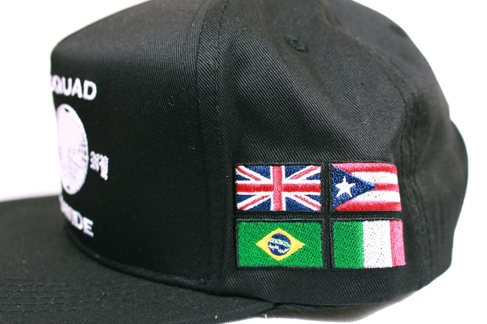 buy online 43f71 ead1c DOPE Worldwide Squad Snapback Hat Black
