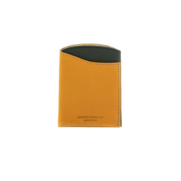 Front Pocket Flap Wallet - Black & Tan