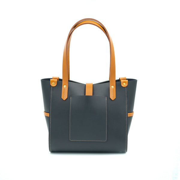 Small Prairie Tote - Navy / London Tan