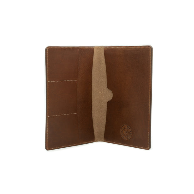 Large Navigator Note Wallet - Mahogany 1