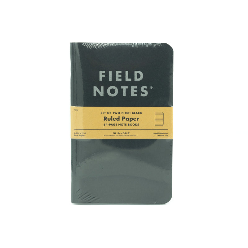 Large Field Note - Pitch Black