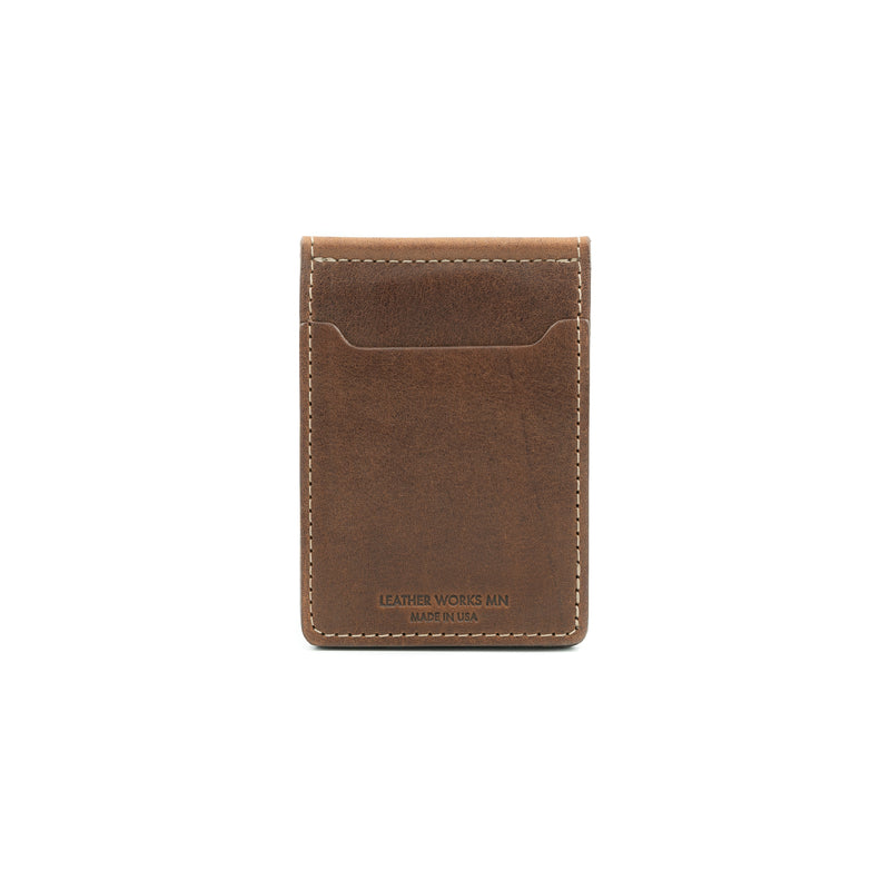 Money Clip Wallet - Mahogany