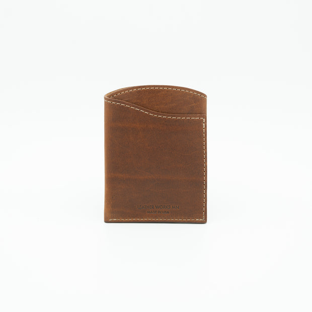 Front Pocket Flap Wallet - Mahogany 1