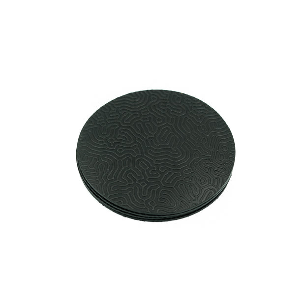 "Coaster - ""Coral Pattern"" Black 1"