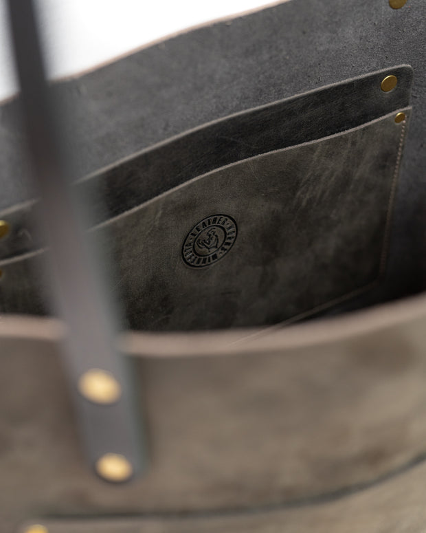 The Gina Tote  - Carbon Gray 1