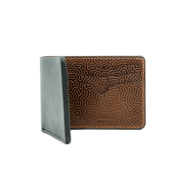 "No. 9 Wallet - Black & ""Coral"" Saddle Tan"