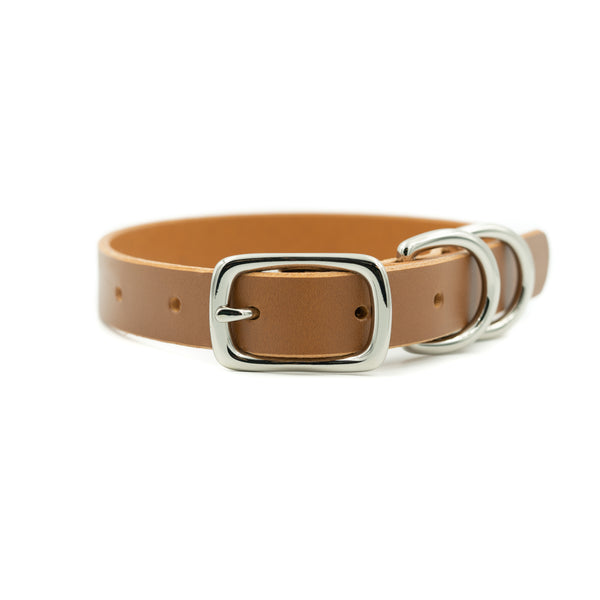 "Canine Collar 3/4"" - London Tan"
