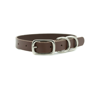 "Canine Collar 3/4"" - Chocolate Brown"