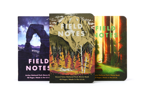 Field Notes - National Park Series D / 3 Pack