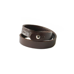 Double Wrap Cuff - Chocolate Brown
