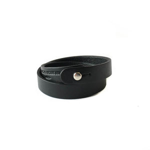 Double Wrap Cuff - Black