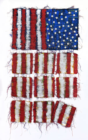 "Democracy...Hanging By A Thread (36""x 23"")"