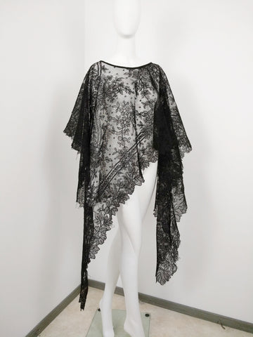 beverly smart mantilla lace cape
