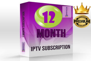 IPTV  Premium Package subscription 12 MONTHS