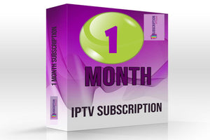 IPTV subscription 1 MONTHS