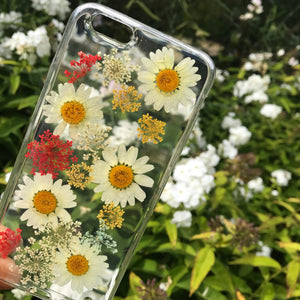🍃'Daisies and Lace' flower iPhone case