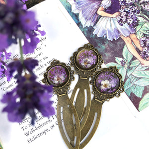 Three bronze lilac bookmarks💜🌿