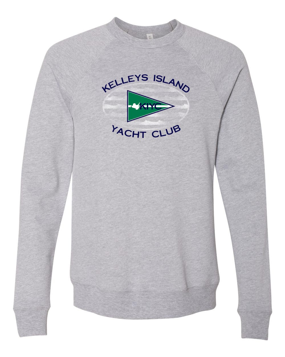 Modern Flagship Logo Crew Sweatshirt in Athletic Heather (Unisex)