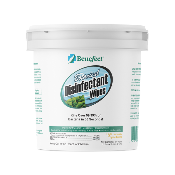 Benefect Botanical Disinfectant Wipes (250 Count) - Defender Safety Products