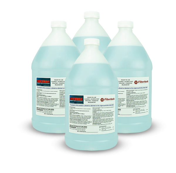 Shockwave RTU 1 Gallon: Multipurpose Disinfectant & Cleaner 4 Pack - Defender Safety Products