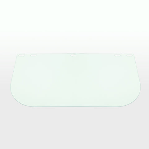 Defender Safety Face Shield Replacement, Clear Polycarbonate Shield for Hard Hats/Helmets (H1 Series) - Defender Safety Products
