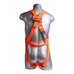 Construction Safety Harness 3 Point, Dielectric, Loop D-Ring, Orange - Defender Safety Products
