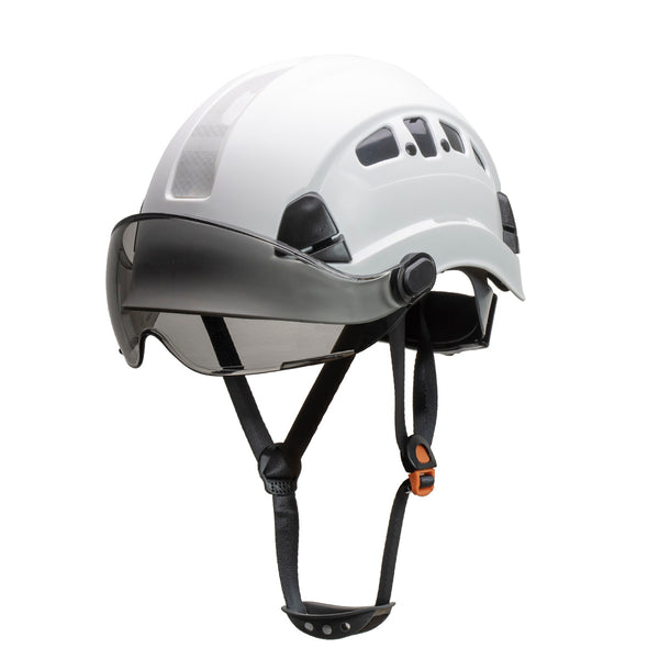 Defender Safety H1-CH® Hard Hat Climbing Helmet with Tinted Visor for Industrial & Construction ANSI Z89.1 - Defender Safety Products