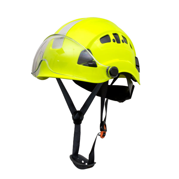 Defender Safety H1-CH® Hard Hat Climbing Helmet with Visor for Industrial & Construction ANSI Z89.1 - Defender Safety Products