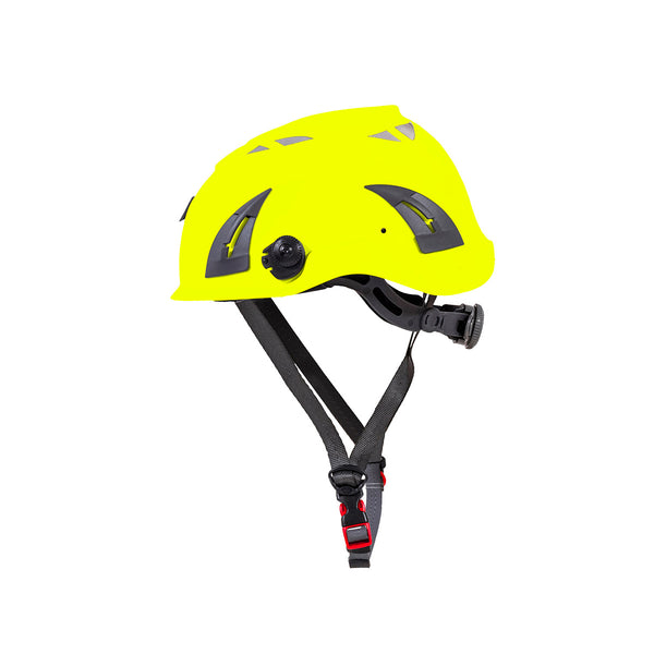 hard hat with chin strap