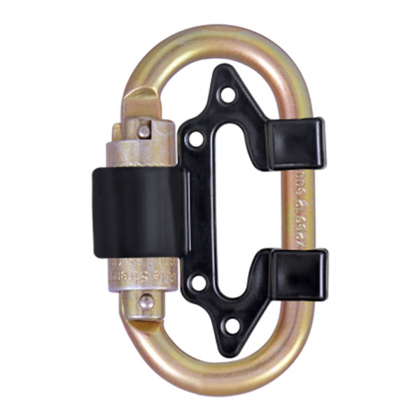 Dual Leg Self Retracting Descent Device (SRD) Converter with a C111 Carabiner and SRD Plastic Connector - Defender Safety Products