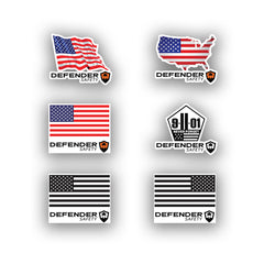 Patriot/911/USA/ American Flag Hard Hat Sticker Decal Pack by Defender Safety - Defender Safety Products