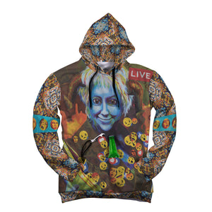 Revelations. AOP Pop Top Hoodie by artist Michelle Leivan