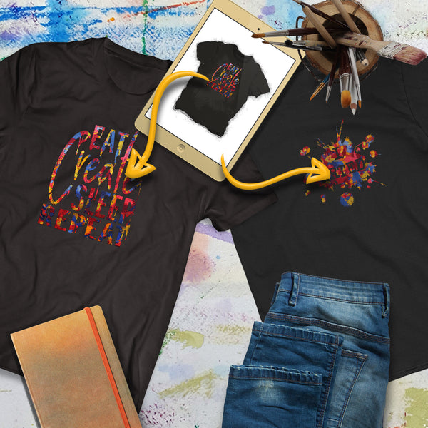 Personalize Both Sides of this tee shirt with your own artwork! | Art Print Express Gear