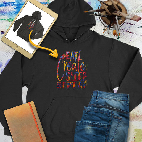 Personalize the Front of this hoodie with your own art design! | Art Print Express Gear