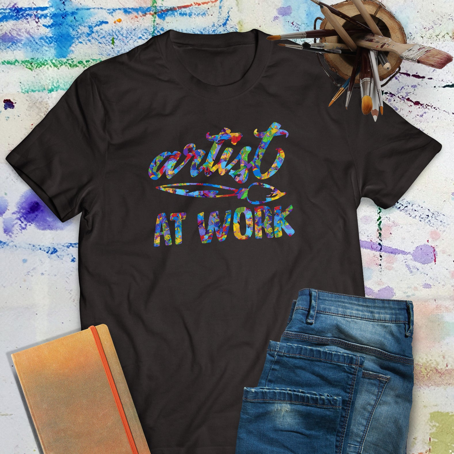Artist at Work - unisex artist tee shirt | Art Print Express Gear