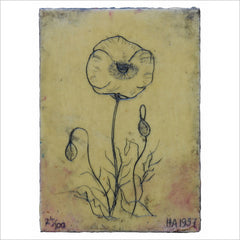 Painting - Flower and Buds 28/100 1941 by Harry Adams