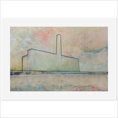 Print - Power Station on the Thames by Harry Adams