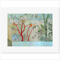 Print - The Garden Behind the Wall 20 BC by Harry Adams